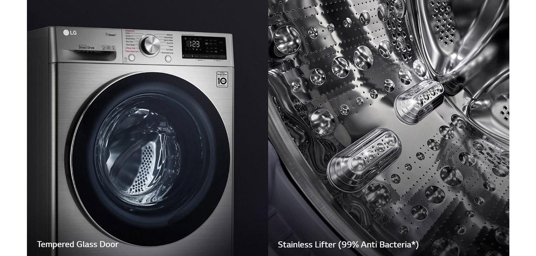 ماشین لباسشویی ال جی مدل 4V5 با ظرفیت 9 کیلوگرم